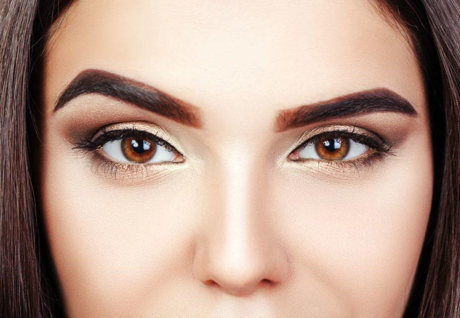 Passende Lidschatten-Farbe für braune Augen
